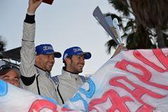 Podium: Giandomenico Basso, Mitia Dotta (Peugeot 207 #2, Movisport), ITALIAN RALLY CHAMPIONSHIP