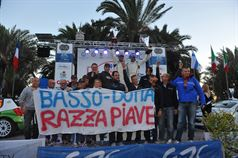 Podium: Giandomenico Basso, Mitia Dotta (Peugeot 207 #2, Movisport), race winner, ITALIAN RALLY CHAMPIONSHIP
