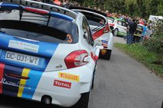 Andreucci, Basso, Scandola, Start PS 6, ITALIAN RALLY CHAMPIONSHIP