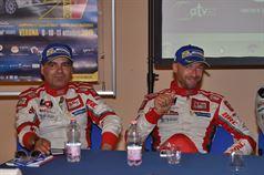 Conferenza Stampa: Giandomenico Basso, Lorenzo Granai (Ford Fiesta R5 LDI R5 #2, Movisport), ITALIAN RALLY CHAMPIONSHIP