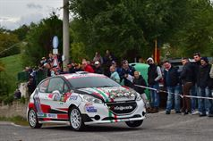 Giorgio Bernardi, Paolo Zanini (Peugeot 208 R2B #18, Meteco Corse), ITALIAN RALLY CHAMPIONSHIP