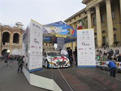 Paolo Andreucci, Anna Andreussi (Peugeot 208 T16 R5 #1)_Piazza Bra, ITALIAN RALLY CHAMPIONSHIP