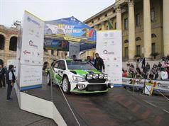 Umberto Scandola, Guido D'amore (Skoda Fabia R5 #3, Car Racing)_Piazza Bra_001, ITALIAN RALLY CHAMPIONSHIP