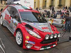 Giandomenico Basso, Lorenzo Granai (Ford Fiesta R5 LDI R5 #2, Movisport)_Piazza Bra, ITALIAN RALLY CHAMPIONSHIP