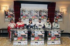 Conferenza Stampa: Marco Signor, Patrick Bernardi (Ford Focus WRC #2, Sama Racing), Luca Pedersoli, Anna Tomasi (Citroen C4 WRC #1), Stefano Albertini, Danilo Fappani (Ford Fiesta WRC #6, Mirabella Mille Miglia), CAMPIONATO ITALIANO WRC