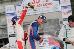 Anna Tomasi (Citroen C4 WRC #1), Marco Signor (Ford Focus WRC #2, Sama Racing), Danilo Fappani (Ford Fiesta WRC #6, Mirabella Mille Miglia), CAMPIONATO ITALIANO WRC