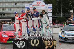 Podio: Marco Signor, Patrick Bernardi (Ford Focus WRC #2, Sama Racing), Luca Pedersoli, Anna Tomasi (Citroen C4 WRC #1), Stefano Albertini, Danilo Fappani (Ford Fiesta WRC #6, Mirabella Mille Miglia), CAMPIONATO ITALIANO WRC